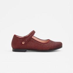 Brokatowe buty Mary Jane...