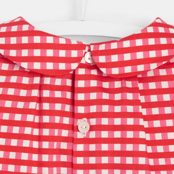 Bluzka w kratkę dla dziewczynki