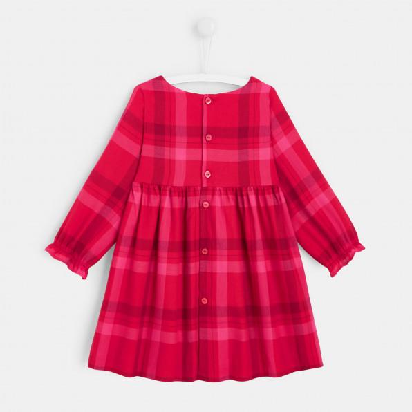 Sukienka w kratkę dla dziewczynki