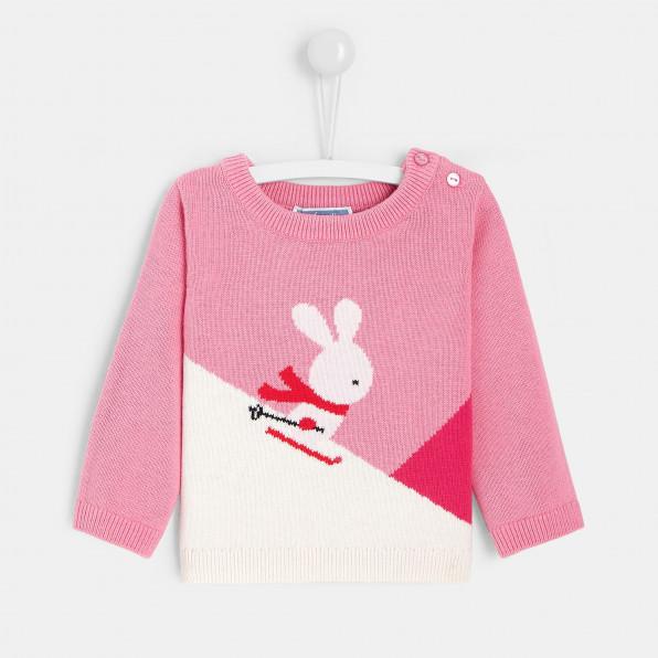 Sweter color block dla dziewczynki