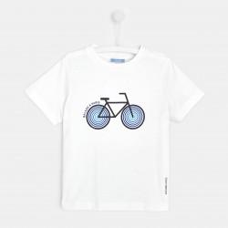 T-shirt z motywem roweru...