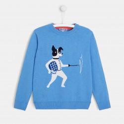 Sweter z motywem szermierza
