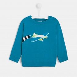 Sweter z motywem samolotu...