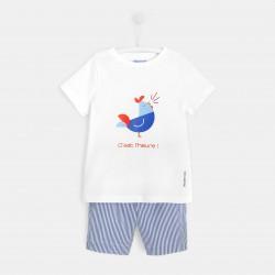Piżama z szortami dla chłopca