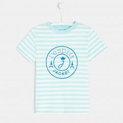 T-shirt w paski dla chłopca
