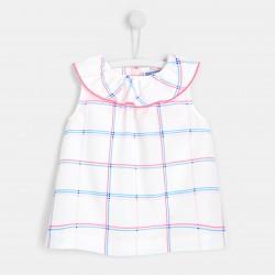 Bluzka w kratę dla dziewczynki