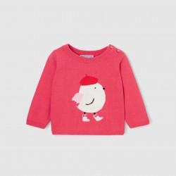 Sweter z motywem ptaszka...
