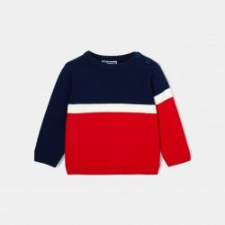 Sweter w stylu color-block...