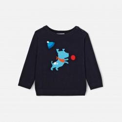 Sweter z motywem pieska dla...