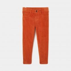 Welurowe spodnie z...