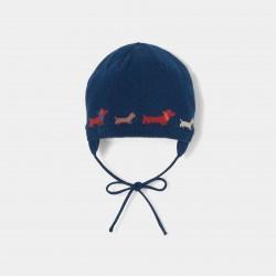 Żakardowa czapka z motywem...