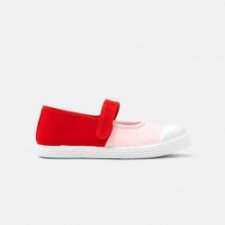 Płócienne buty Mary Jane...