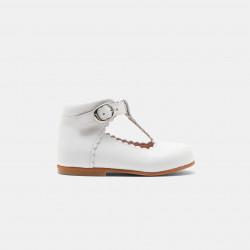 Skórzane buty typu t-bar...