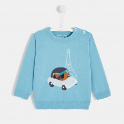 Sweter z motywem intarsja...